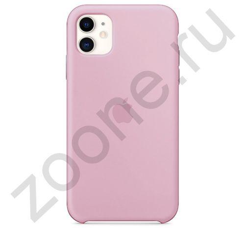 Чехол для iPhone 11 Silicone Case силиконовый пудровый