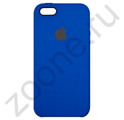 Силиконовый чехол цвета Индиго для iPhone 5/5S/SE Silicone Case