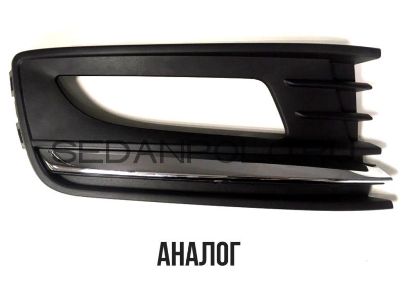 Окантовка ПТФ правая Хром Volkswagen Polo Sedan 2015