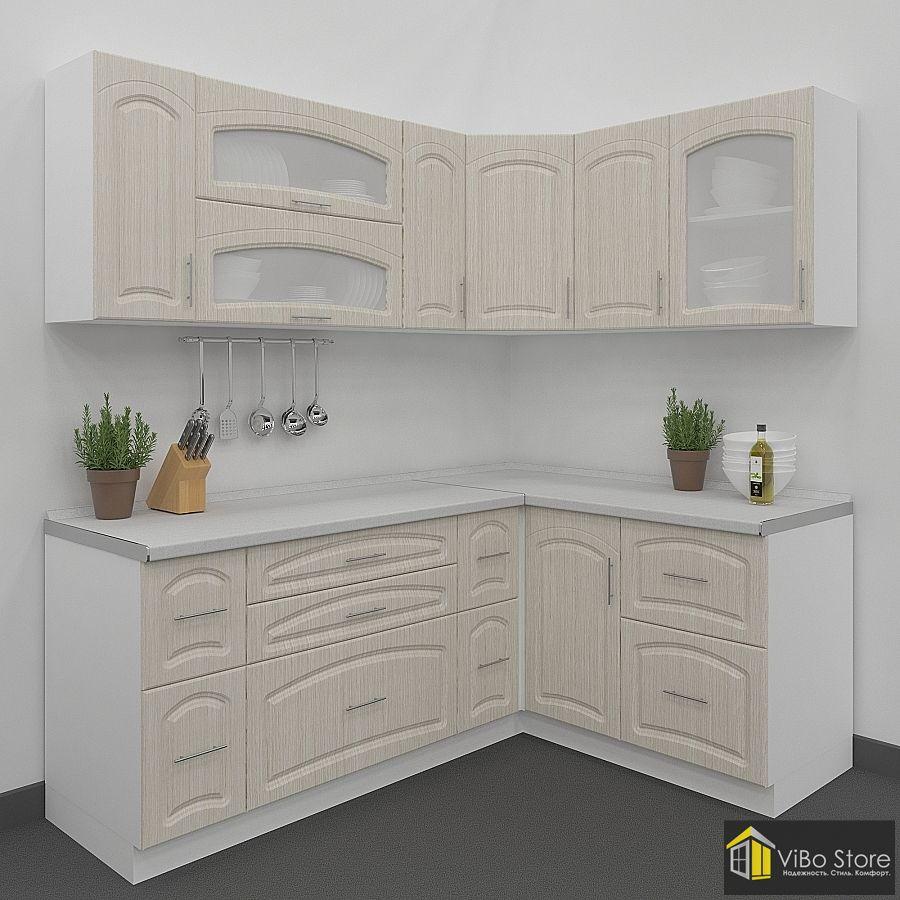 Кухня классика модульная белого цвета