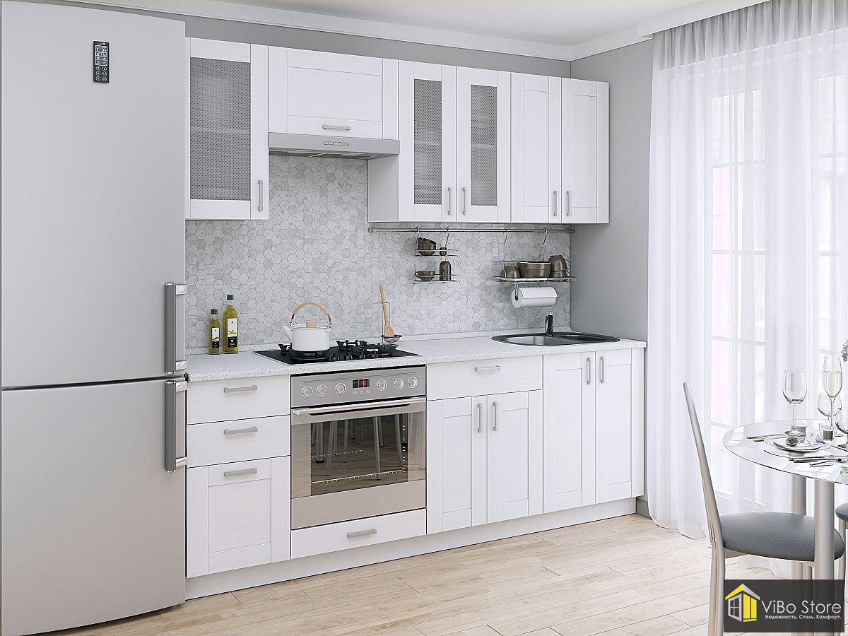 Маленькая светлая кухня Лофт