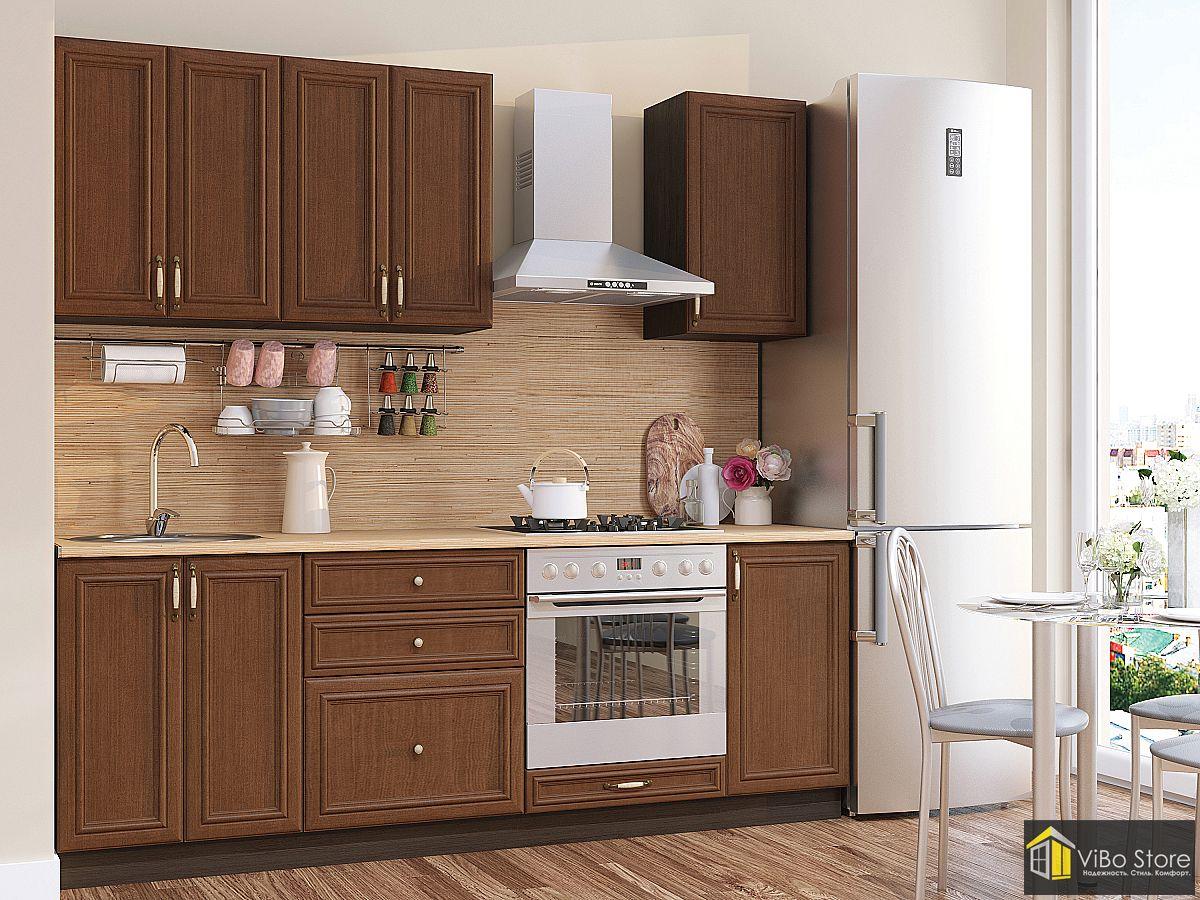 Классическая кухня коричневый венге