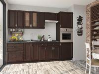 красивая Темная прямая кухня на 5 кв. метров