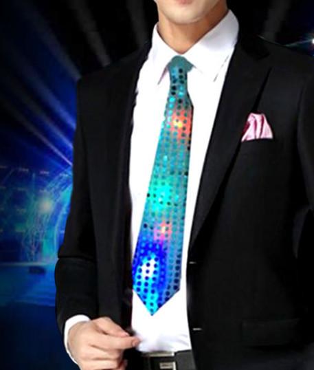 Светящийся карнавальный галстук(Цвет: Желтый)