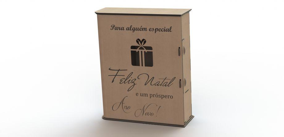 Коробка для бокалов и бутылки с подарком на заказ