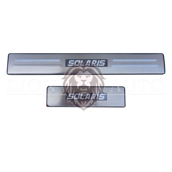 Накладки на пороги Hyundai Solaris (с подсветкой)