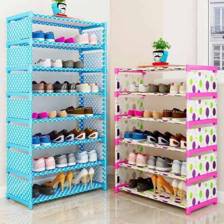 Стеллаж многофункциональный 8-ярусный для хранения детских вещей и игрушек, обуви и т.д.