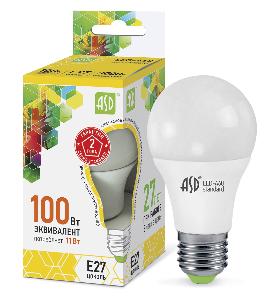 Лампа сд LED-A60-std 11Вт 230В Е27 3000К 990Лм ASD