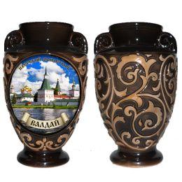 """Ваза """"Иверский монастырь"""" (керамика, глазурь)."""