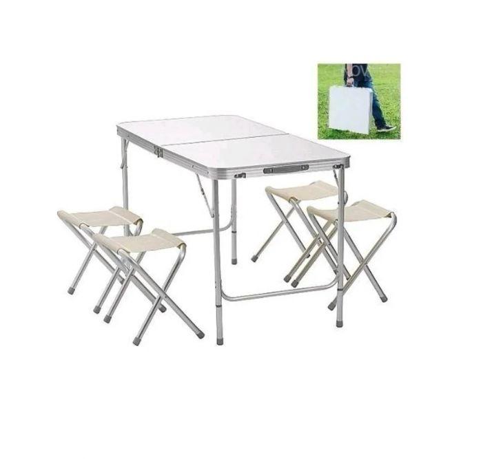 Стол складной + 4 стула для пикника