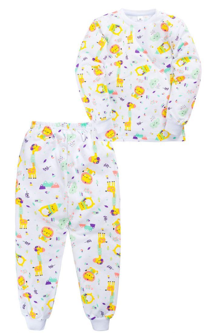 Пижама с начесом для девочки Африка