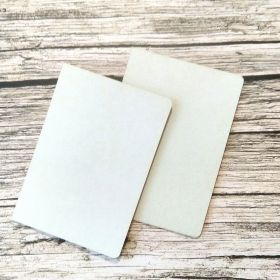 картон пивной ( белый) для обложки паспорта 2 шт размер 9*13 см скругление по двум углам с радиусом 5 мм толщина картона 1,2 мм