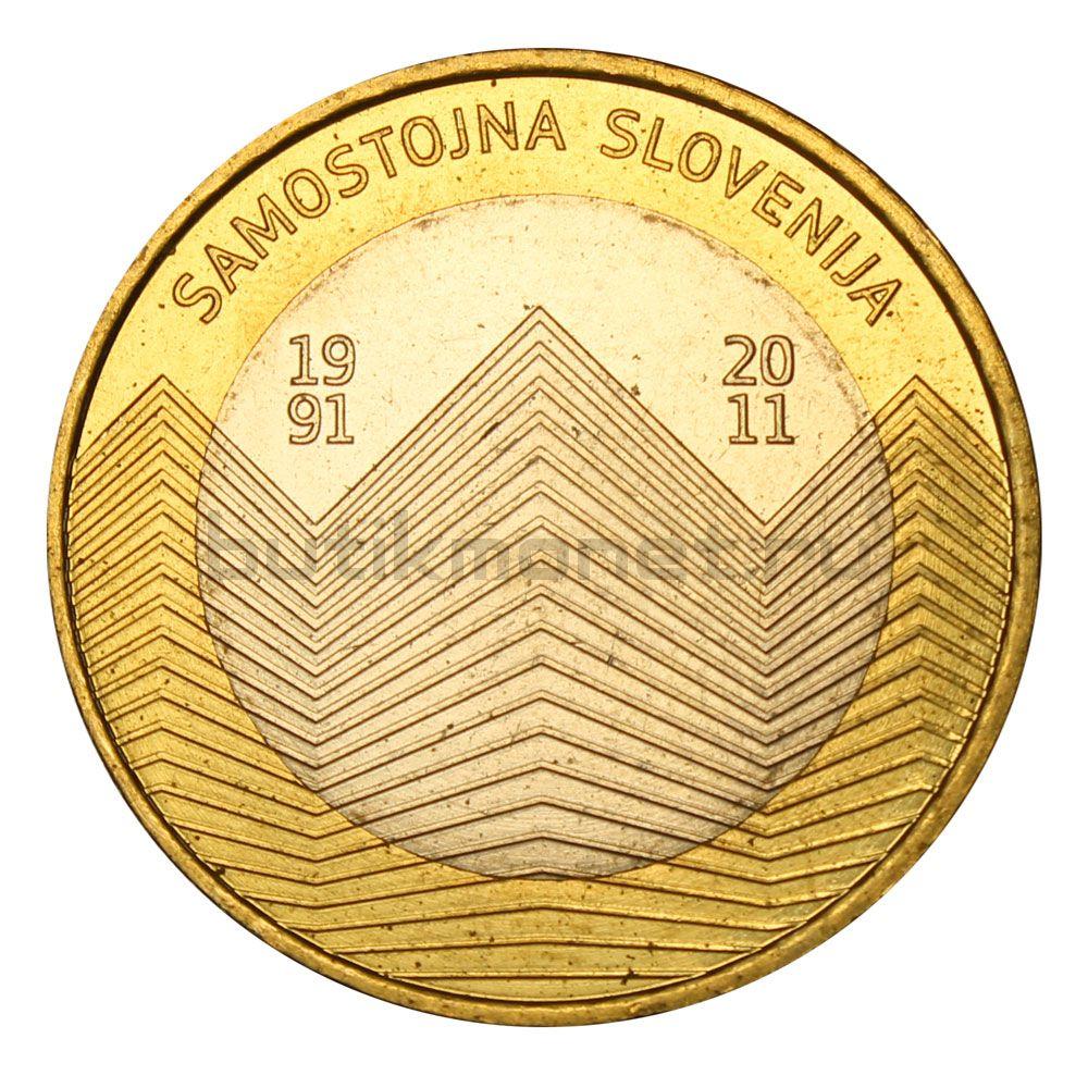 3 евро 2011 Словения 20 лет независимости