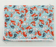 Непромокаемая пеленка Лисички на голубом 74*74