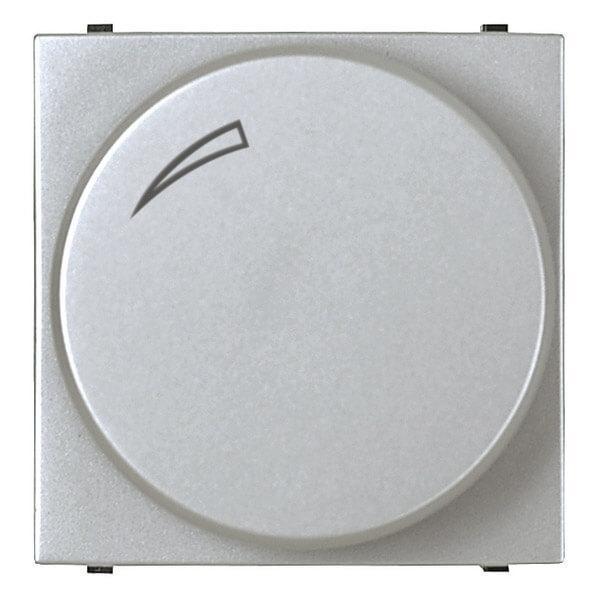 Диммер поворотный ABB Zenit серебро 2CLA226020N1301