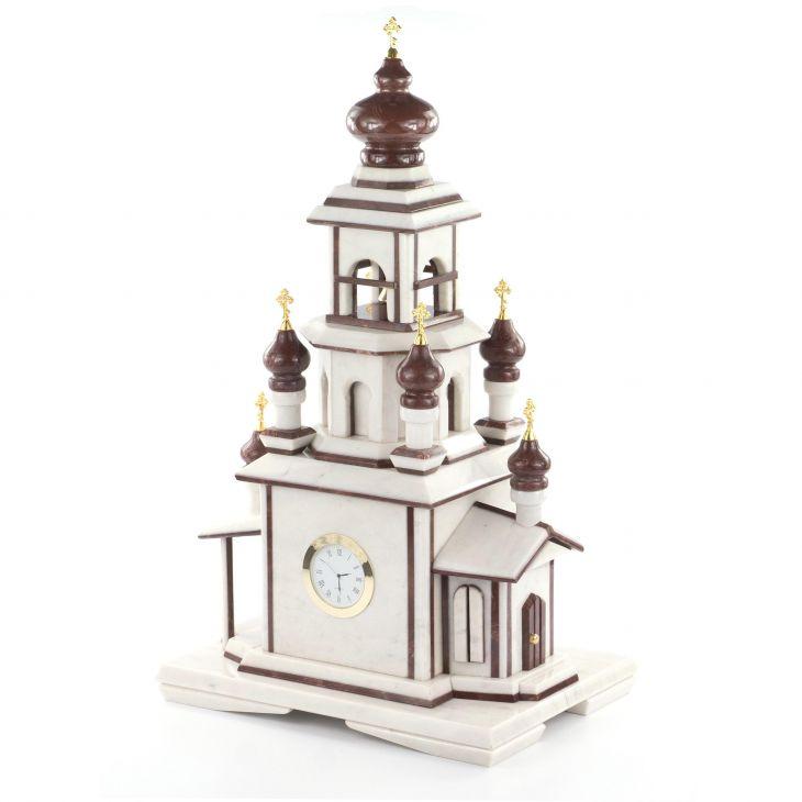 Часы Храм мрамор лемезит