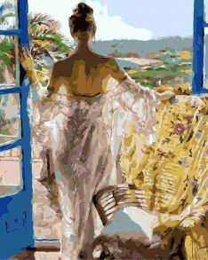 Картина по номерам «Девушка-грация» 40x50 см
