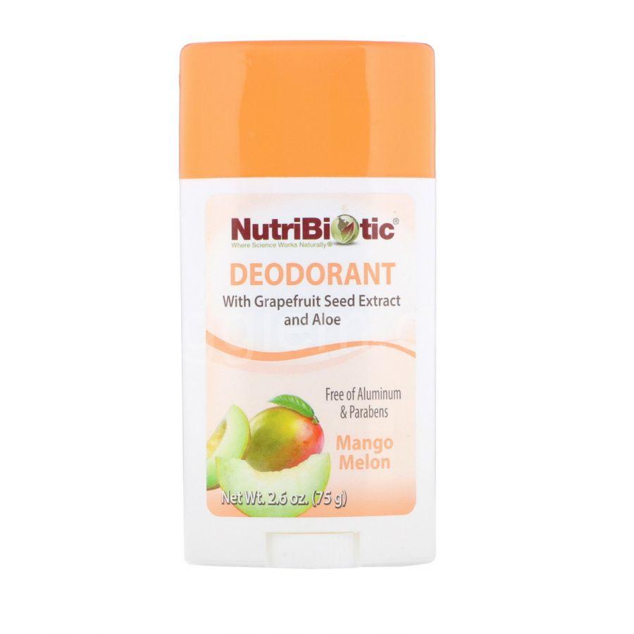 Дезодорант манго Дыня Nutribiotic, 2.6 oz (75 g)