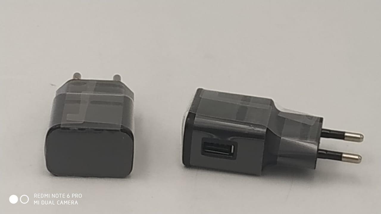 Зарядное устройство сетевой адаптер с одним USB потром (черный)
