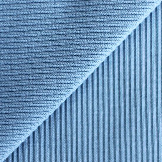 Лоскут трикотажной ткани кашкорсе Синий джинсовый