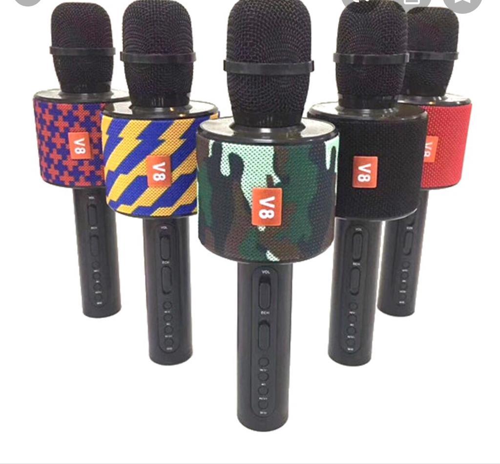 Беспроводной караоке микрофон Chargе V8, Bluetooth колонка
