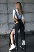 Женские брюки с рисунком Хохлома