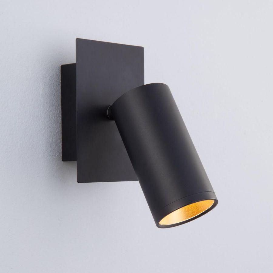 Настенный светодиодный светильник Eurosvet 20066/1 LED черный/золото
