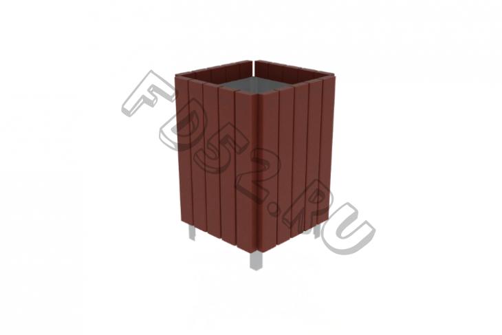 Урна деревянная                                           420х420х700(МФ 06-507)