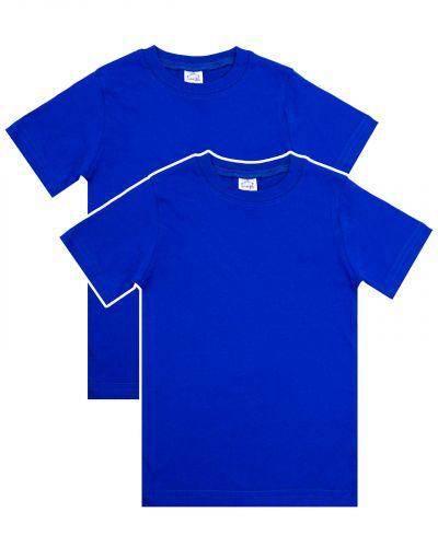 Однотонная Футболка для детей 8-12 лет Bonito BK166F синяя