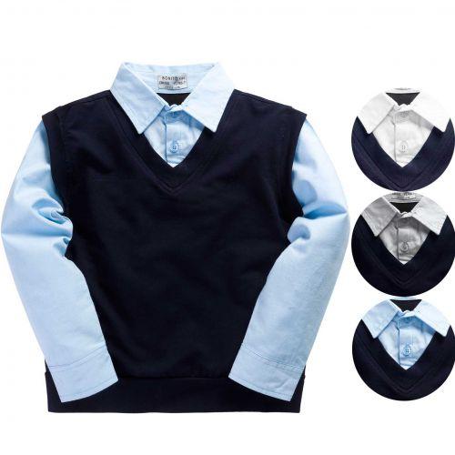 Рубашка обманка для мальчика 7-11 лет ОР293