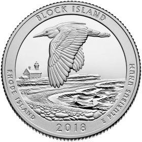 Национальный заповедник дикой природы о. Блок   25 центов США 2018 Монетный Двор на выбор