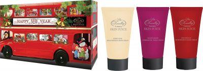 Liss Kroully Skin juice Парфюмерно-косметический подарочный набор NY-1807 Автобус Крем для рук и ногтей 75 мл + Крем для рук питательный 75 мл + Крем для рук увлажняющий 75 мл