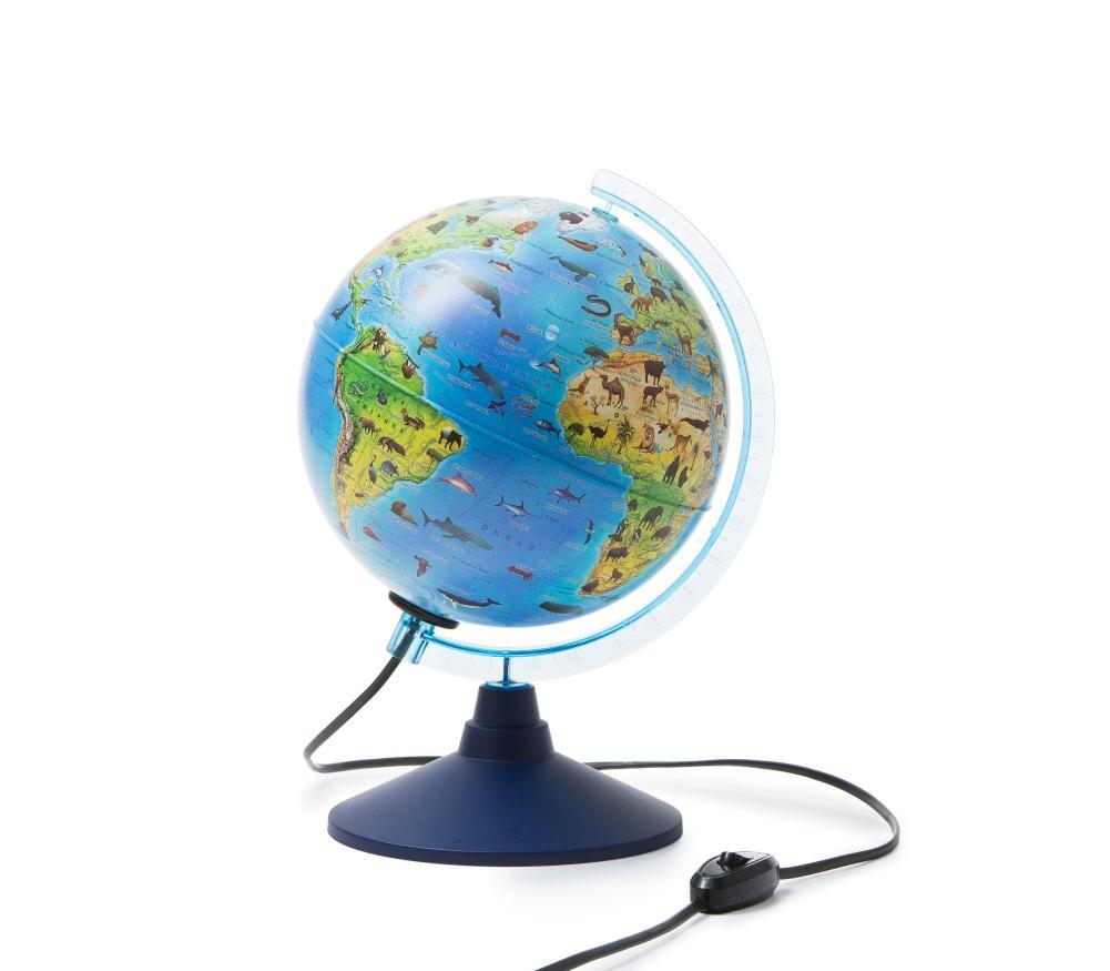 Глобус GLOBEN INT12100296 интерактивный зоогеографический детский с подсветкой 210мм с очками VR