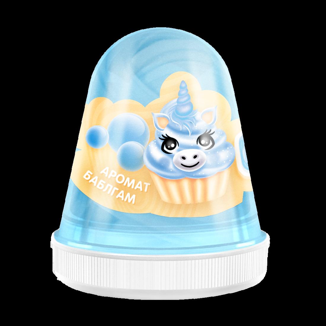 Слайм MONSTER'S SLIME FL005 Fluffy Бабл-гам голубой