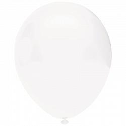 Шар (10''/25 см) Белый, пастель, 100 шт., Орбиталь