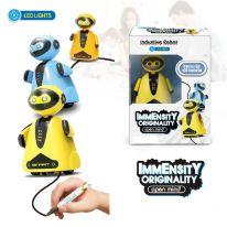 Индуктивная игрушка Робот с LED сенсором, жёлтый
