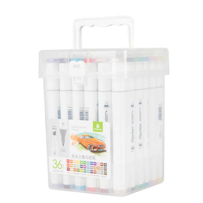 Фломастеры разноцветные в упаковке с ручкой 36 шт