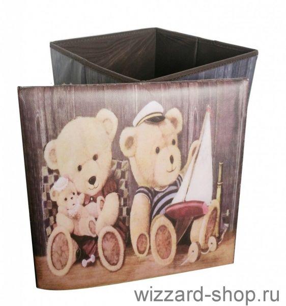 Складной пуфик-короб для хранения вещей, 29х29х31 см