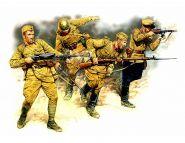 Фигуры Серия Востоный Фронт. Набор № 2. Советская пехота в действии, 1941-1942