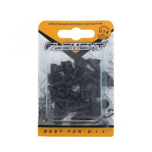Полкодержатель лопат. d=6 мм, пласт. черный, 16 шт. 5132981