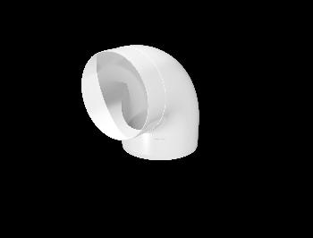 10ККП, Колено круглое пластик 90°, D100
