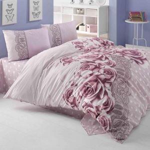 """Постельное бельё """"Irina Home"""" ранфорс Roselace размер 1.5"""