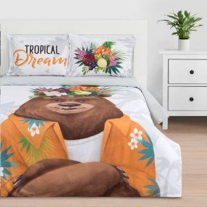 """Постельное белье """"Этель"""" евро Tropical dream 200*217 см, 220*240 см, 50*70+3 см - 2 шт, ранфорс 111 г/м2"""