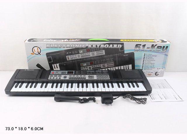 MQ-6121 Детский синтезатор пианино с микрофоном от сети