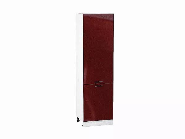 Шкаф пенал с 2-мя дверцами Валерия ШП600Н (гранатовый металлик)