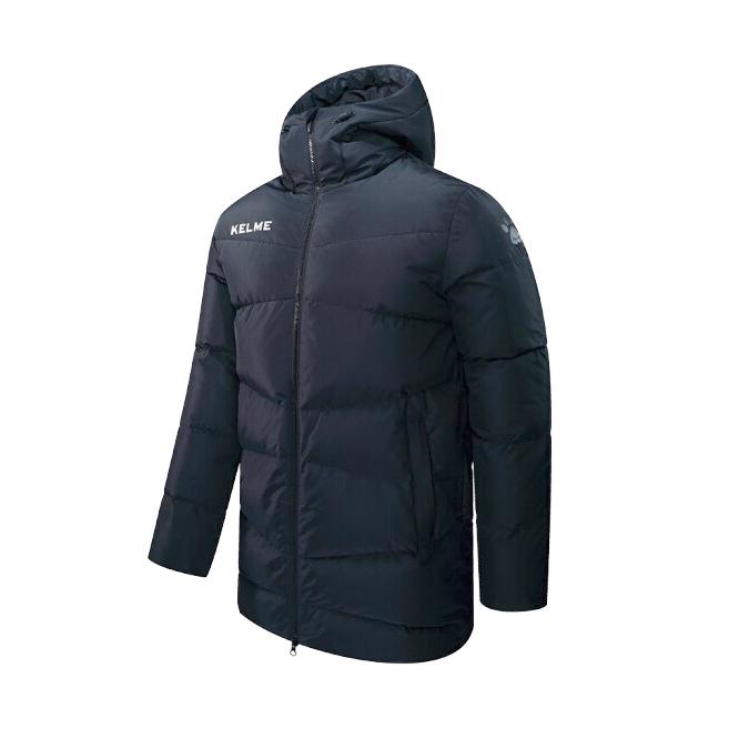 Куртка Kelme Middle-Long Down Jacket(Adult) черная, размер XL, артикул 3881408-000