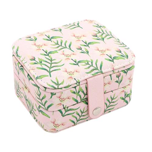 Миниатюрная шкатулка для ювелирных изделий Лилия, 11х9х6 см. Цвет: розовый