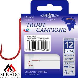 Крючок с поводком Mikado TROUT CAMPIONE (упаковка)