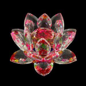 """Сувенир """"Лотос-кристалл трехъярусный розовый"""""""