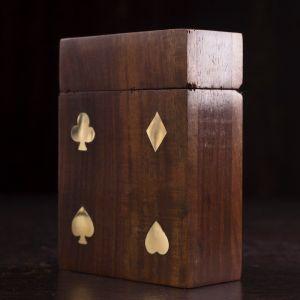 """Дерево шкатулка 1 колода карт 11х8х4 см """"Масть"""" 4643728"""